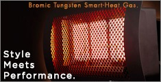 Bromic Tungsten Smart-heat gas heater