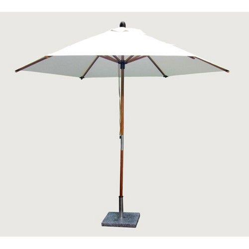 Bambrella 3-0m R-S Sirocco - 10' Wide,1.5 Inch Diameter 2 Piece Round Bamboo Market Umbrella