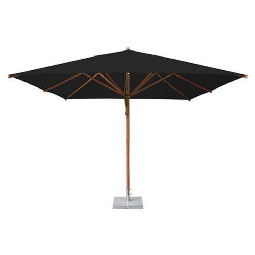 Bambrella 3-4m SQ-L Levante - 11.5' Wide,  2.25 Inch Diameter Square Bamboo Market Umbrella