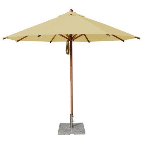Bambrella 3-5m R-L Levante - 11.5' Wide, 2 Inch Dia Round Bamboo Market Umbrella