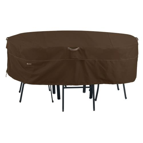 "Classic Accessories 55-718-036601-RT Madrona - 60 x 90"" Medium RainProof Rectangular/Oval Patio Table & Chair Set Cover"