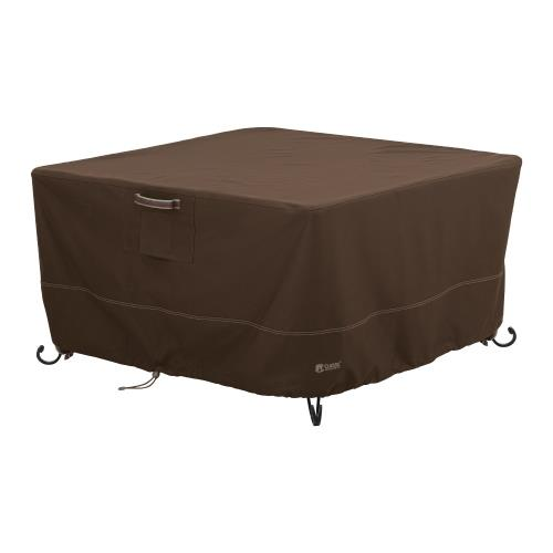 "Classic Accessories 55-835-036601-RT Madrona - 44 x 44"" RainProof Square Fire Pit Table Cover"