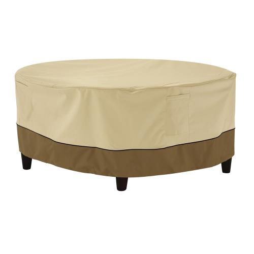 "Classic Accessories 55-855-031501-00 Veranda - 32 x 32"" Medium Round Patio Ottoman/Coffee Table Cover"