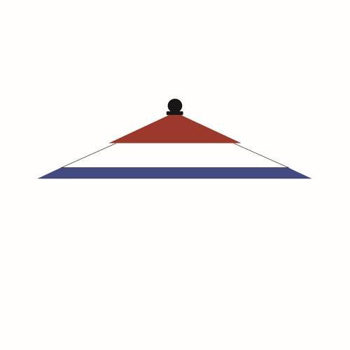 Galtech International 131PAT 9' Round Patriotic Wood Umbrella