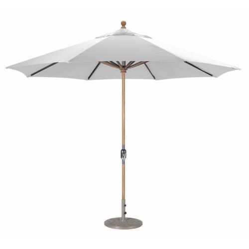 Galtech International 587-O Classic - 11' Round Teak Umbrella