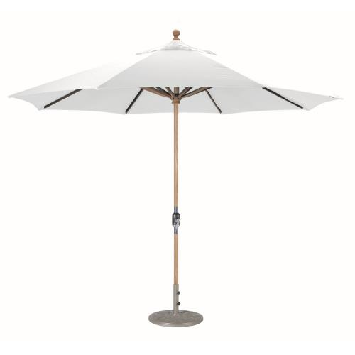 Galtech International 587-O Classic - 11' Round Teak Umbrella