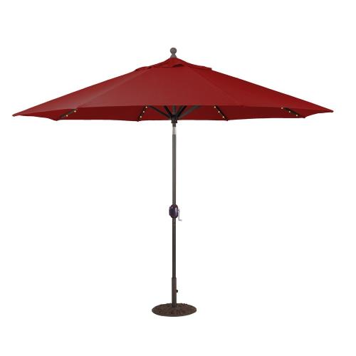 Galtech International 986 11' Octagon Umbrella with LED Light