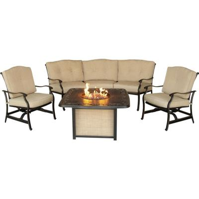 "Hanover TRADITIONS4PCFP Traditions - 97.6"" 4-Piece Fire Pit Set"