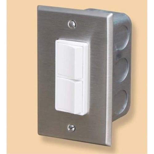 Infratech 14 4300 Accessory - Single Duplex Switch Wall Plate  and  Gang Box 20 Amp Per Pole