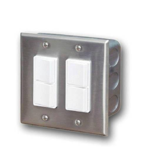 Infratech 14 4305 Accessory - Dual Duplex Switch Wall Plate  and  Gang Box 20 Amp Per Pole
