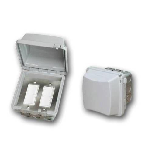 Infratech 14 4315 Accessory - Dual Duplex Switch Flush Mount  and  Gang Box 20 Amp Per Pole