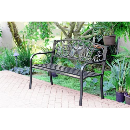 "Jeco Inc PB005 50"" Star Curved Back Park Bench"