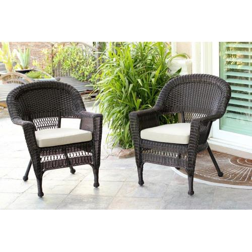 "Jeco Inc W0020-C_2-FS0-CS 29.5"" Chair with Cushion (Set of 2)"
