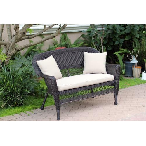 "Jeco Inc W0020-L-FS-CL 51"" Patio Love Seat with Cushion and Pillow"