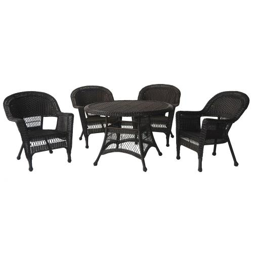 "Jeco Inc W0020D-G 44.5"" 5 Piece Dining Set"