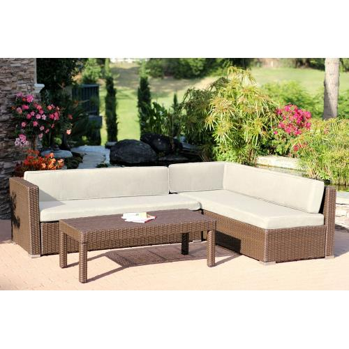 "Jeco Inc W31-FS0 69.5"" 3 Piece Conversation Sectional Set"