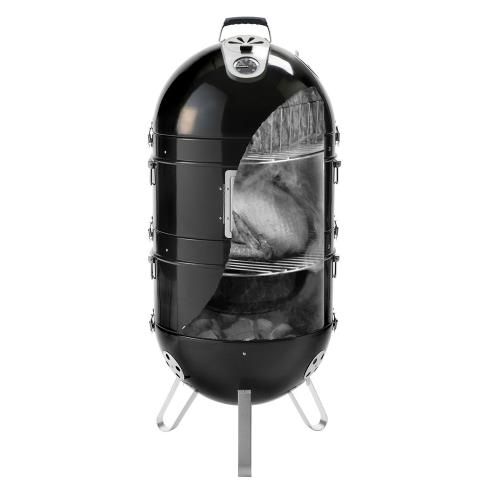 Napoleon Grills AS300K-1 Apollo 300 Charcoal Grill and Water Smoker, Black