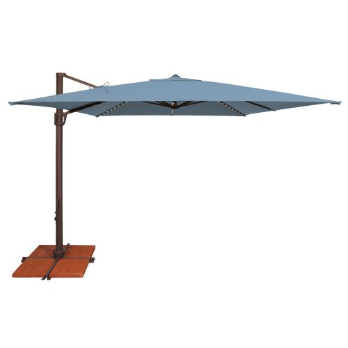 SimplyShade SSAD45SL Bali Pro - 10' Square Starlight Cantilever with Cross Base