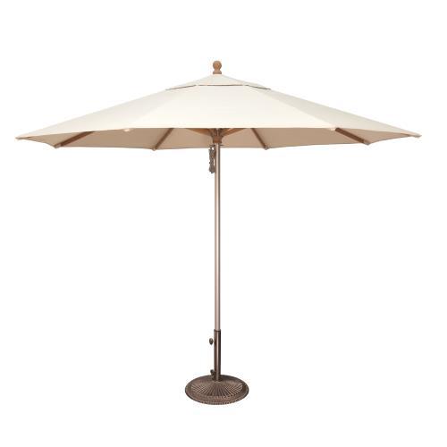 SimplyShade SSUWA811SS Ibiza  - 11' Wood / Aluminum Umbrella