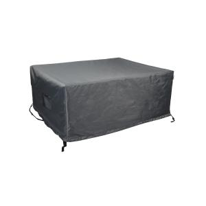 Titanium Shield Outdoor Rectangular Fire Table Cover by Astella