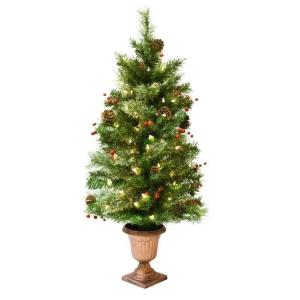 Astella - 44 Inch Pre-lit Christmas Tree With 50 UL-rated Lights and Stand