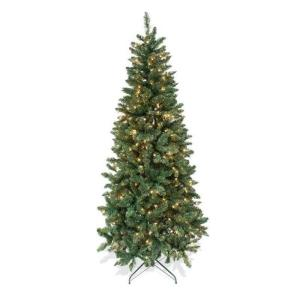 Astella - 84 Inch Christmas Tree With 200 UL-rated Lights and Stand