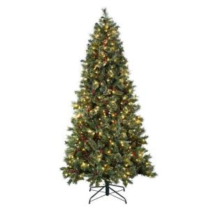 Astella - 91 Inch Christmas Tree With 500 UL-rated Lights and Stand