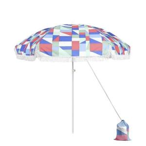 Astella - 6.5' Outdoor Fiberglass Portable Beach Umbrella with Carrying Bag/Sand Bag and Adjustable Pole