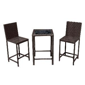 "36"" Bar Bistro Set Wicker"