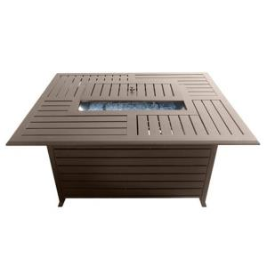 "49.5"" Rectangle Aluminum Slatted Fire Pit"
