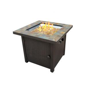30 Inch Square Slate Fire Pit