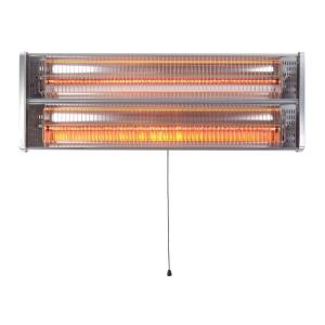 "22"" 1500W Dual Bulb Wall Mount Infrared Heat Lamp"