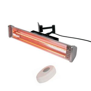"24.5"" Wall Mounted Electric Patio Heater With Remote"
