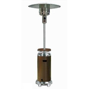 "87"" Tall Two Tone Patio Heater With Table"