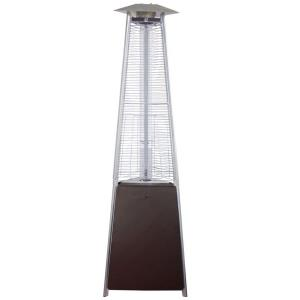 """94"""" Tall Natural Gas Glass Tube Outdoor Patio Heater"""