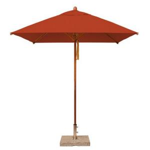 Levante - 7'  Wide, 1.5 Inch Diameter Square Bamboo Market Umbrella