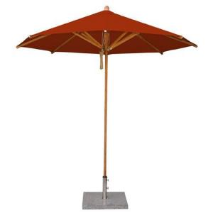 "Levante - 8.5' Wide , 1.5"" Diameter Round Bamboo Market Umbrella"