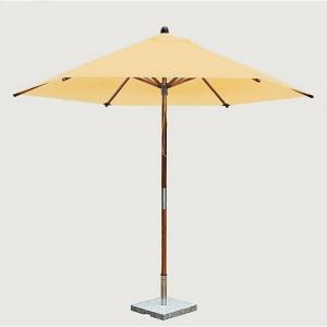 "Sirocco - 8.5' Wide, 1.5"" Diameter Round Bamboo Market Umbrella"