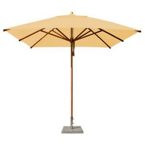 "Levante - 8.5' Wide,  2"" Diameter Square Bamboo Market Umbrella"