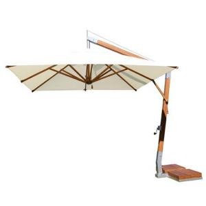 Side Wind - 10' Square Bamboo Cantilever Umbrella