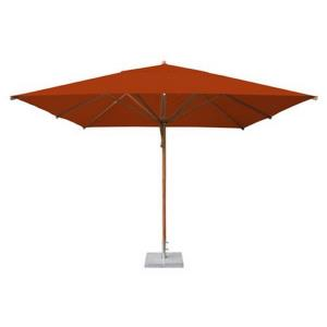 Levante - 11.5' Wide,  2.25 Inch Diameter Square Bamboo Market Umbrella