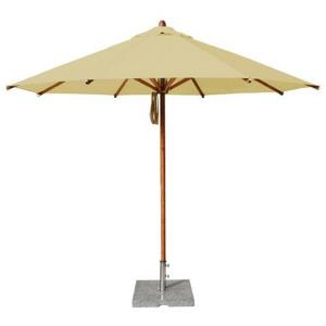 "Levante - 11.5' Wide, 2"" Dia Round Bamboo Market Umbrella"