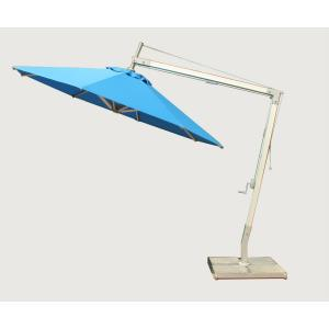 Santa Ana - 10' Round Side Wind Bamboo Off-Set Market Umbrella