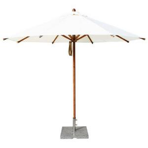 "Levante - 10' Wide, 2"" Diameter Round Bamboo Market Umbrella"