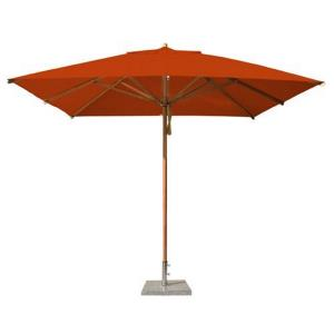 "Levante - 10' Wide, 2"" Diameter Square Bamboo Market Umbrella"