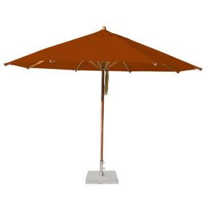 "Levante - 13' Wide, 2.25"" Diameter Round Bamboo Market Umbrella"