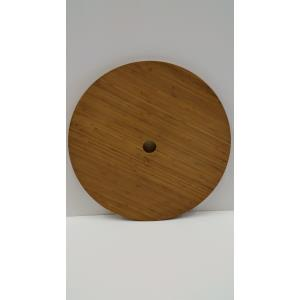 "24"" Round Bamboo Umbrella Table"