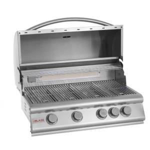 32 Inch 4-Burner Grill With Rear Burner