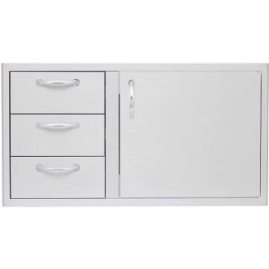 Blaze - 39 Inch Access Door and Triple Drawer Combo