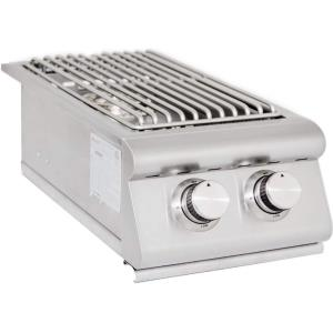 "Blaze - 12.63"" Natural Gas LTE Double Side Burner with Lights"